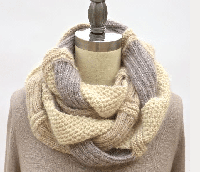 Challah Infinity Knit Scarf