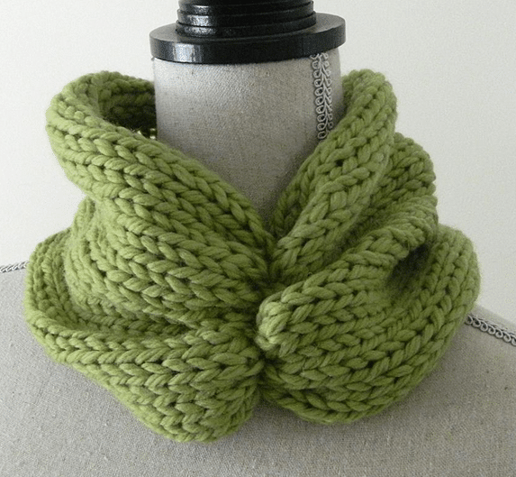Ruched Cowl Knitting Pattern Free